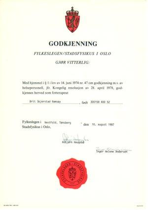 Chiropodist certificate