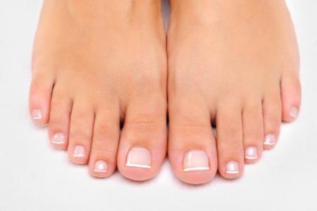 toenail care in hand